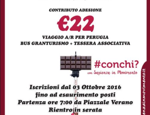 EUROCHOCOLATE 2016, a Perugia con Sapienza In Movimento